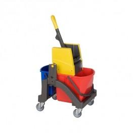 VERMOP, Тележка для влажной уборки Aquva 1х17 л, 1х6 л